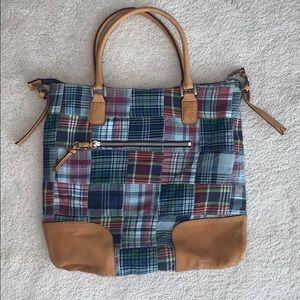 Tommy Hilfiger plaid shoulder purse